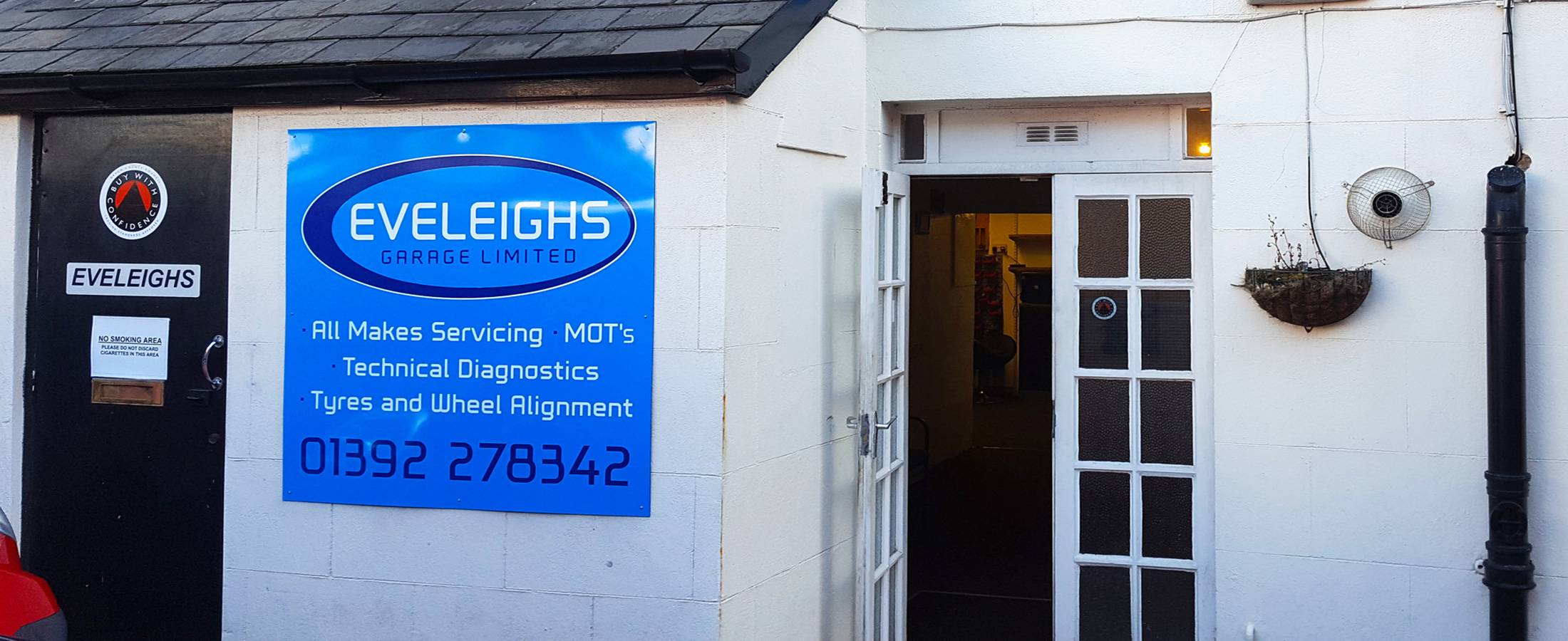 eveleighs garage entrance reception cropped